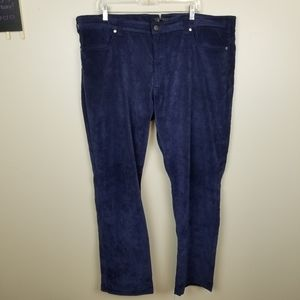 Mens Saks 5th Avenue Blue Micro Corduroy Pants